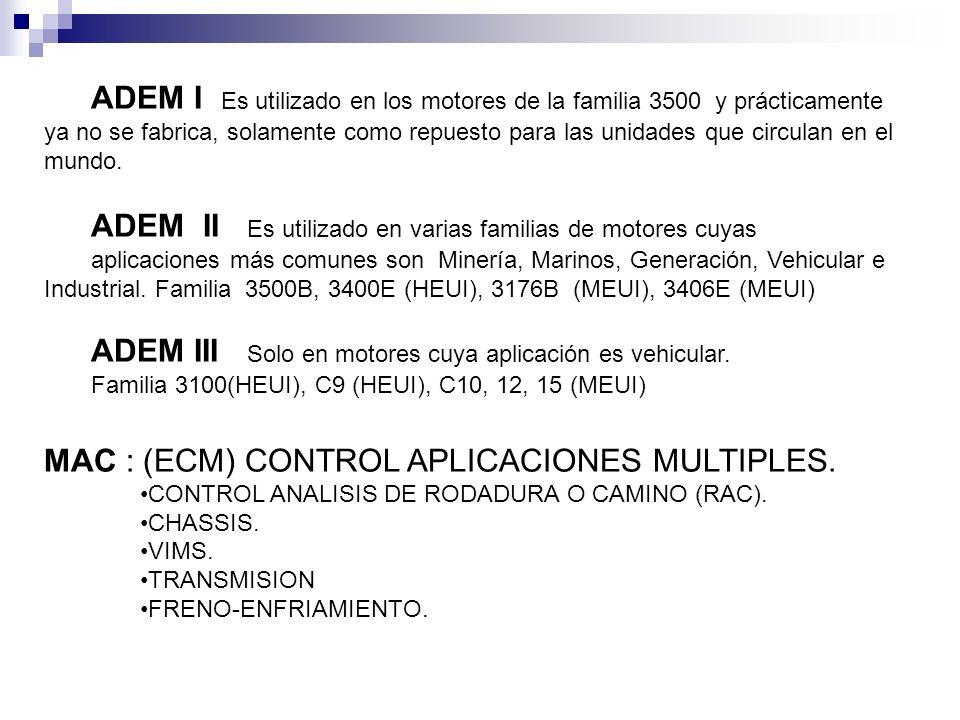 ADEM II Es utilizado en varias familias de motores cuyas
