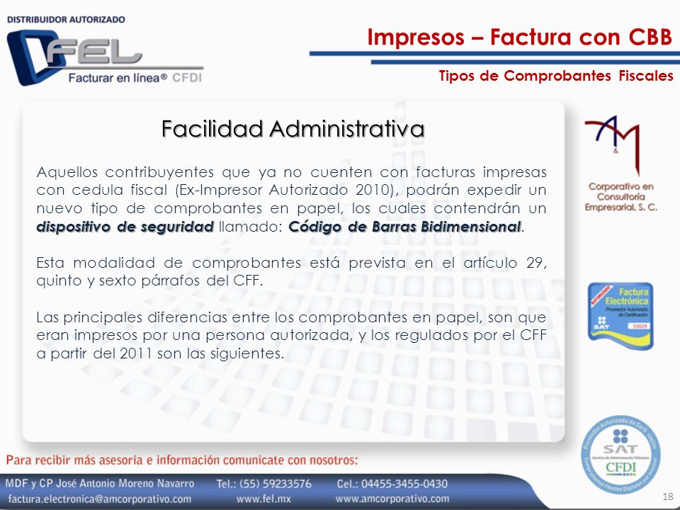 Facilidad Administrativa