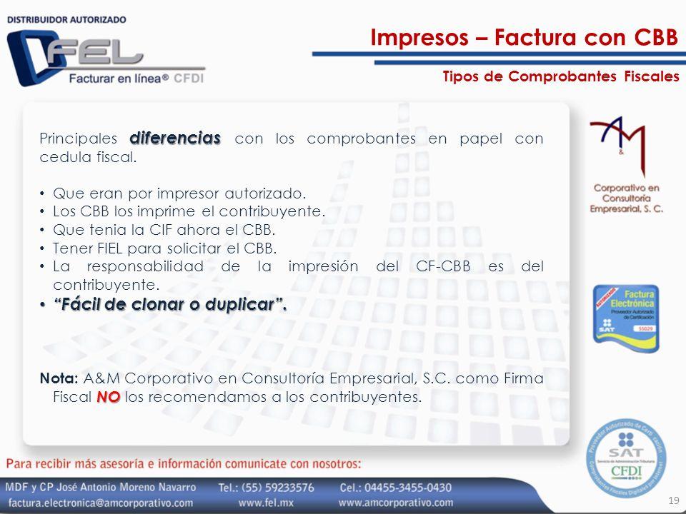 Impresos – Factura con CBB