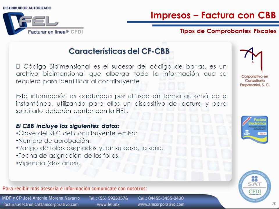 Características del CF-CBB