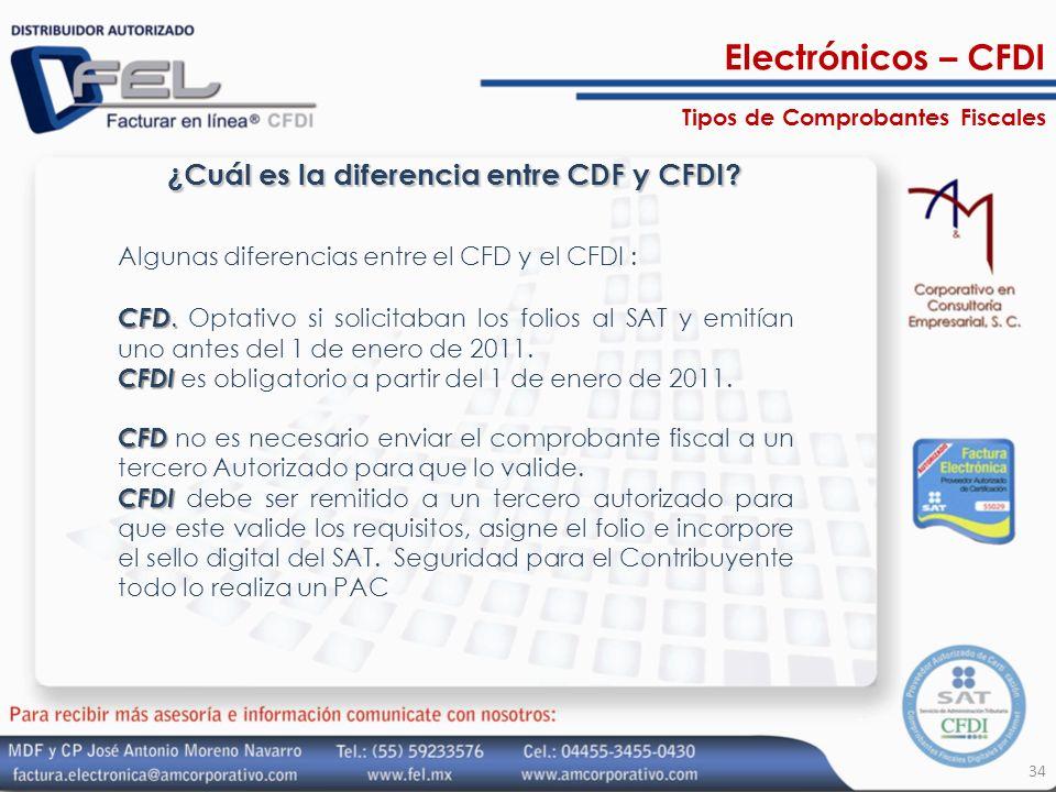 ¿Cuál es la diferencia entre CDF y CFDI