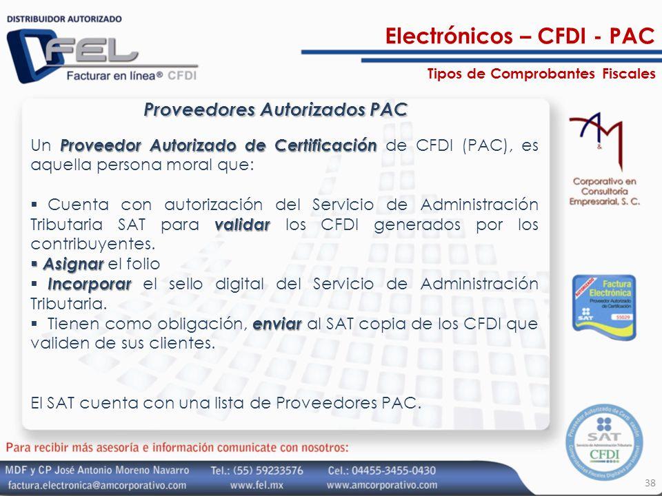 Proveedores Autorizados PAC