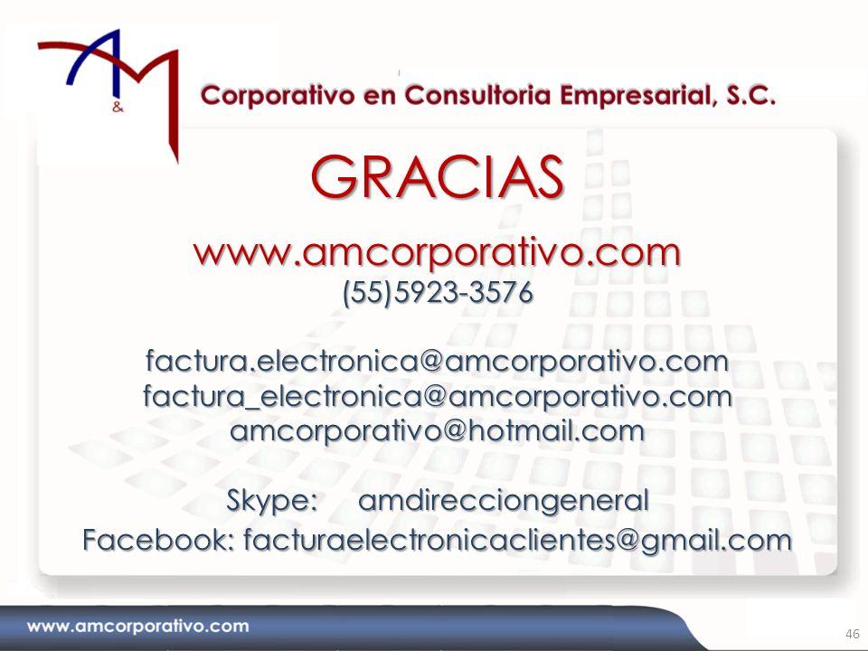 GRACIAS www.amcorporativo.com (55)5923-3576