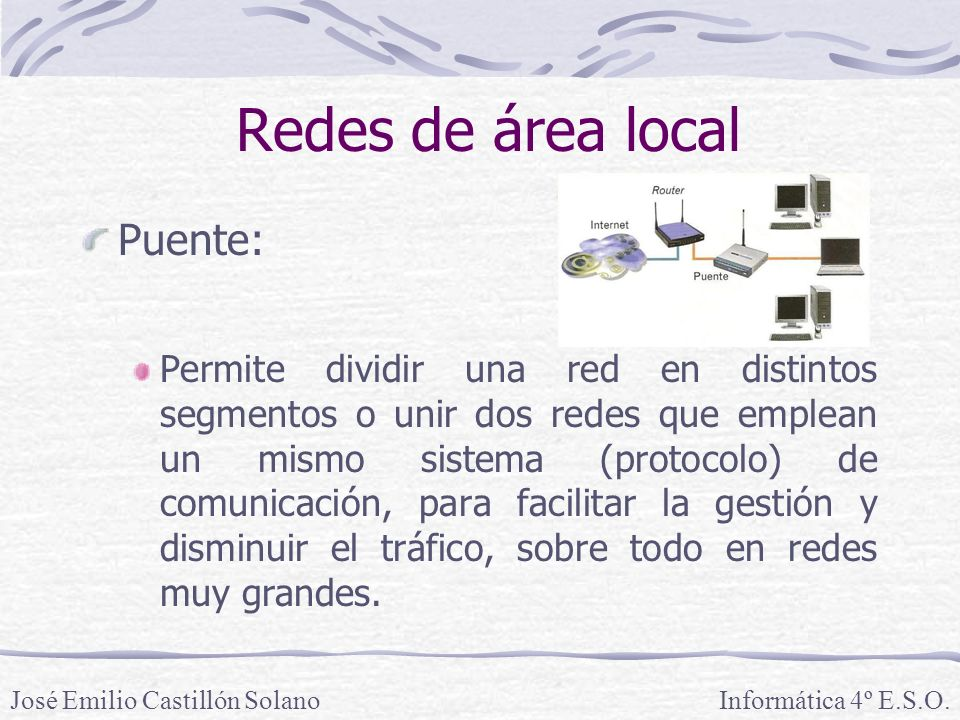Redes de área local Puente: