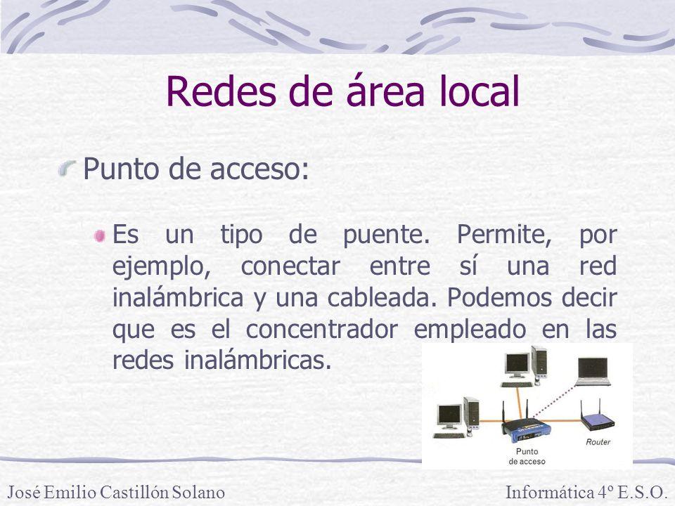 Redes de área local Punto de acceso: