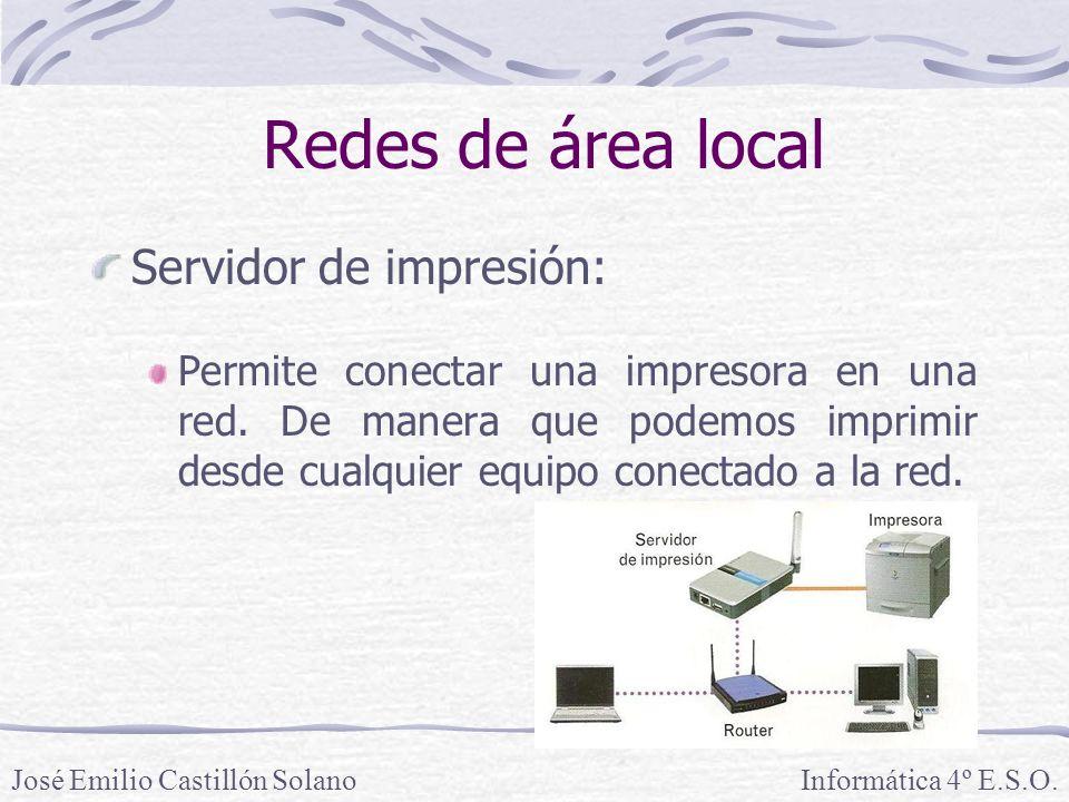 Redes de área local Servidor de impresión: