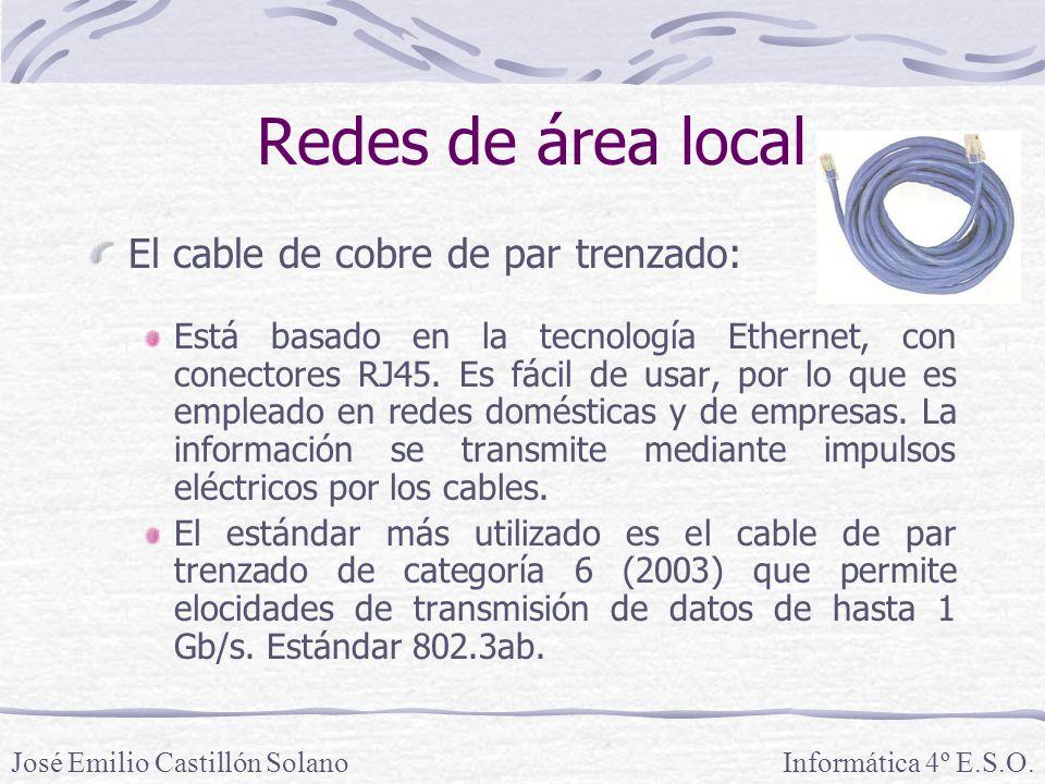 Redes de área local El cable de cobre de par trenzado:
