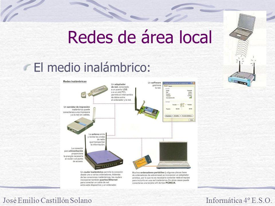 Redes de área local El medio inalámbrico: José Emilio Castillón Solano