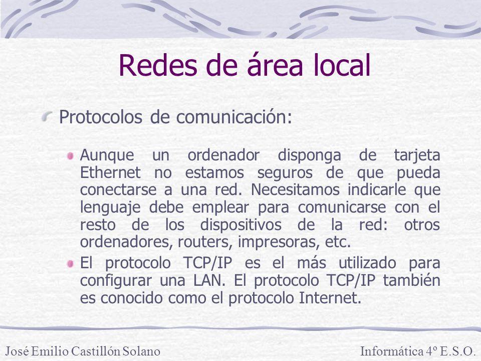 Redes de área local Protocolos de comunicación: