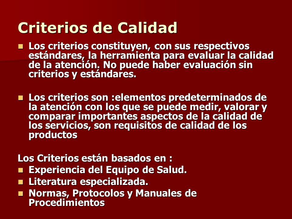Criterios de Calidad
