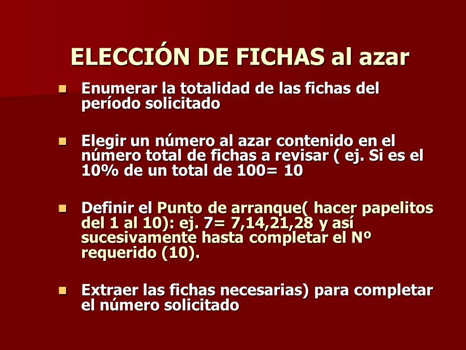 ELECCIÓN DE FICHAS al azar