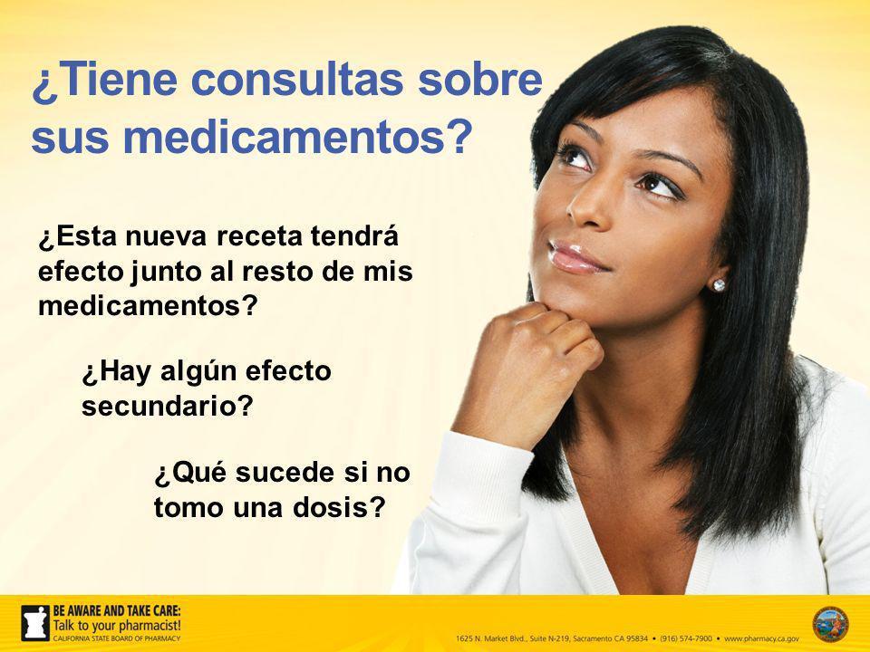 ¿Tiene consultas sobre sus medicamentos