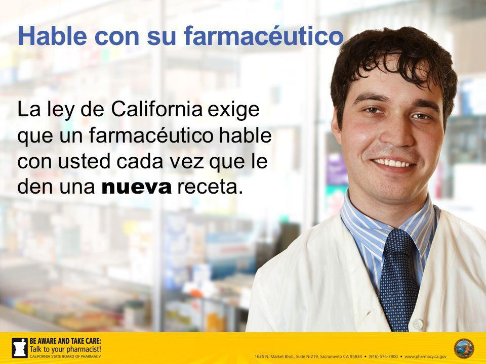 Hable con su farmacéutico