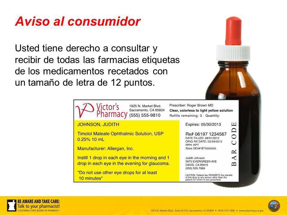 Aviso al consumidor