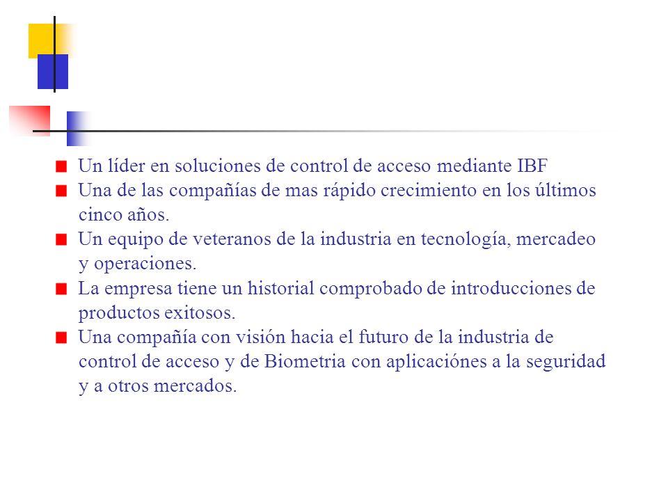 Un líder en soluciones de control de acceso mediante IBF