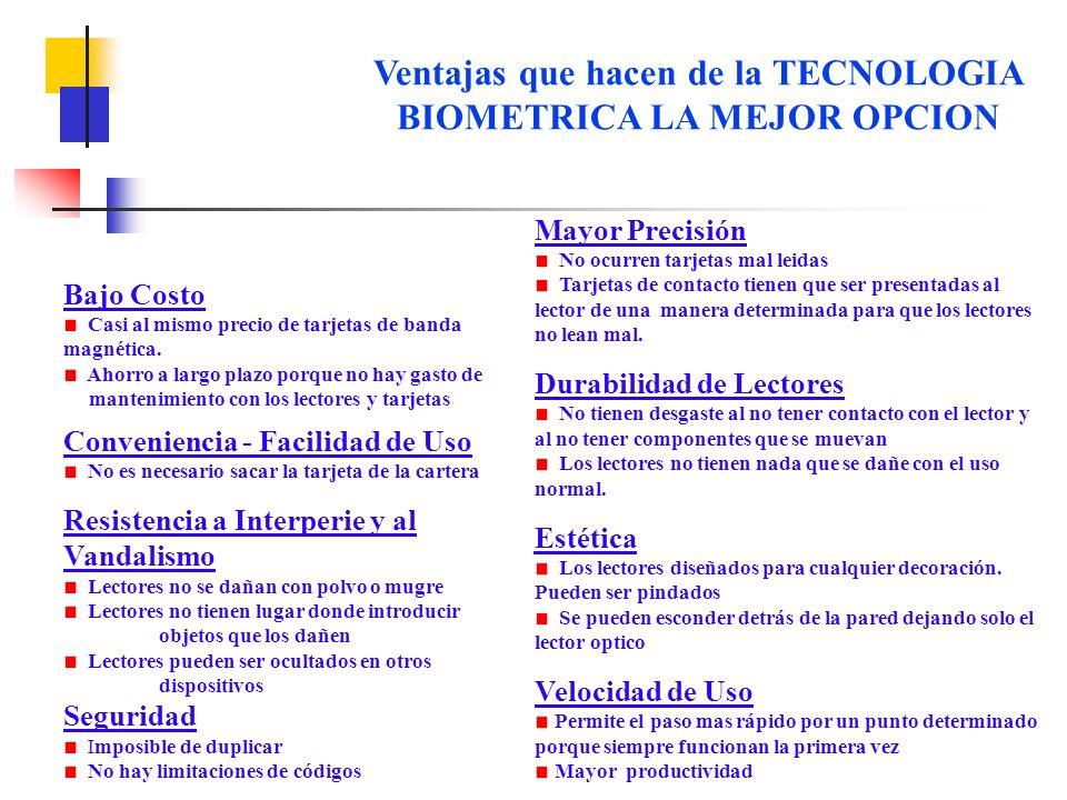 Ventajas que hacen de la TECNOLOGIA BIOMETRICA LA MEJOR OPCION