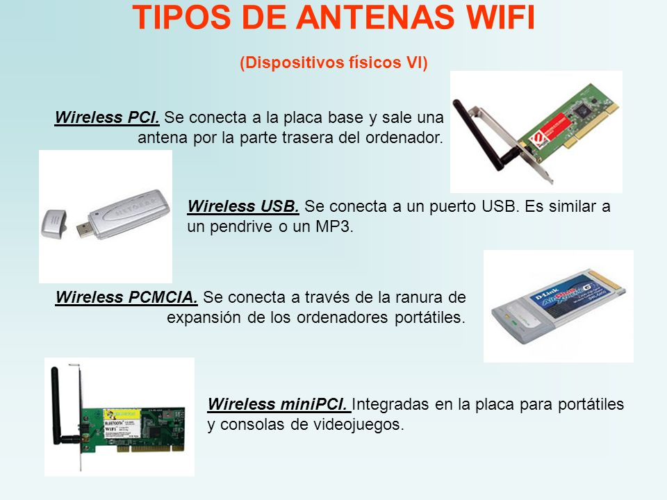 TIPOS DE ANTENAS WIFI (Dispositivos físicos VI)