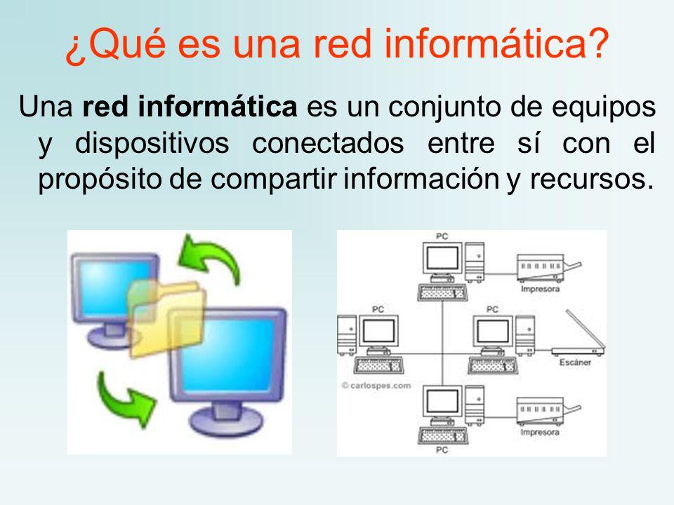 ¿Qué es una red informática
