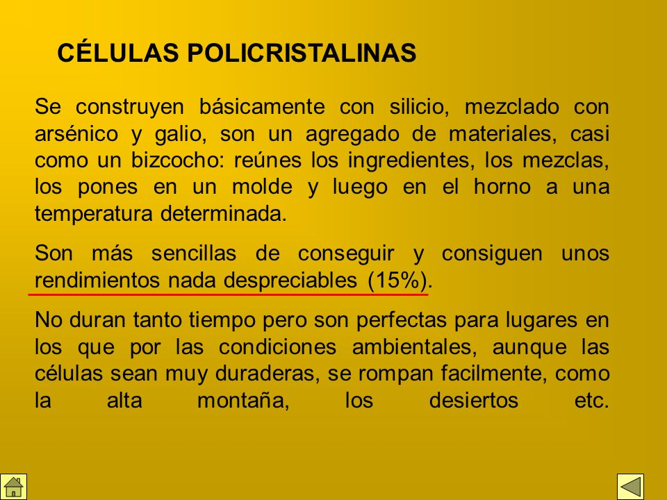 CÉLULAS POLICRISTALINAS