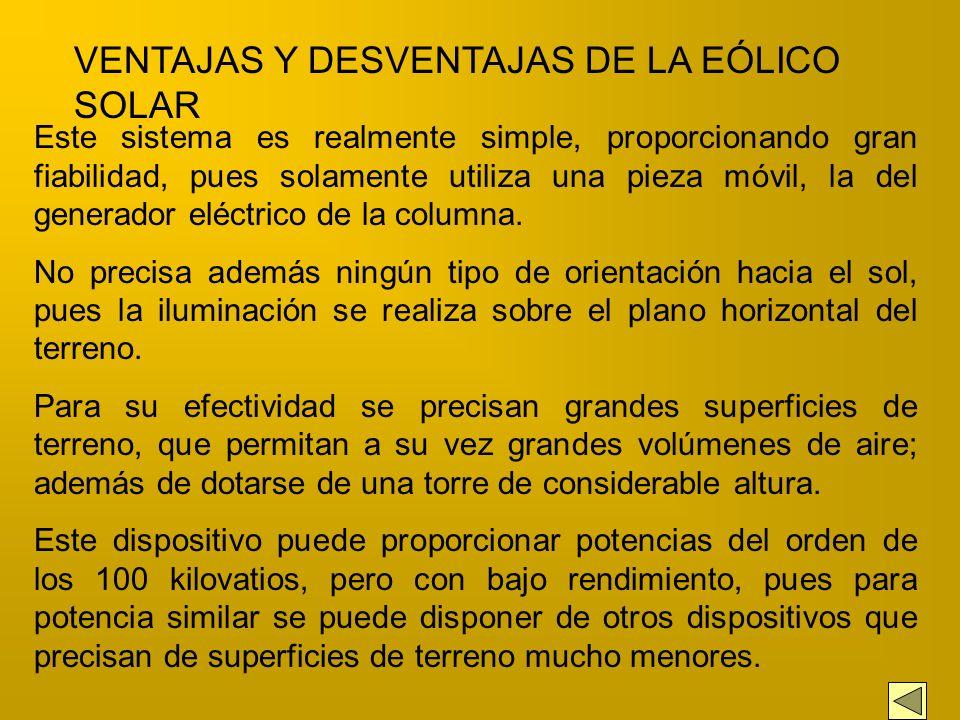 VENTAJAS Y DESVENTAJAS DE LA EÓLICO SOLAR