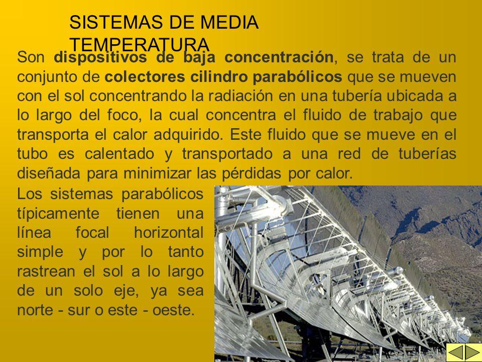 SISTEMAS DE MEDIA TEMPERATURA