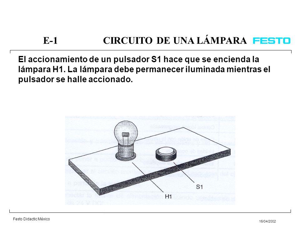 E-1 CIRCUITO DE UNA LÁMPARA