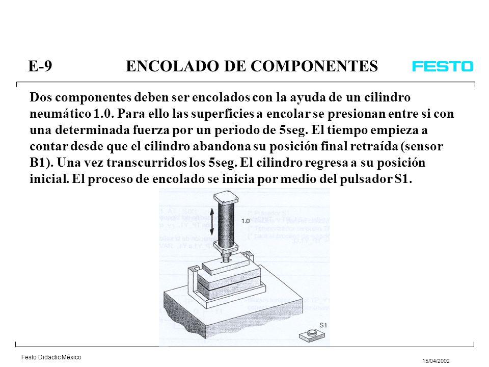 E-9 ENCOLADO DE COMPONENTES