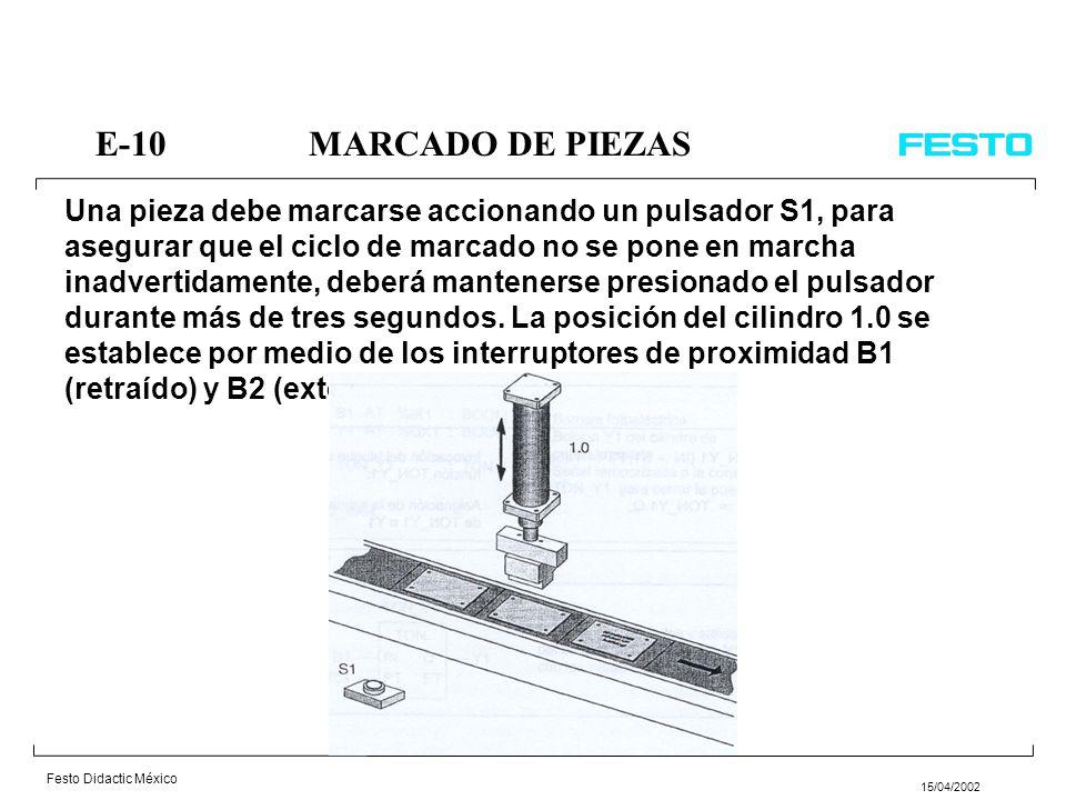 E-10 MARCADO DE PIEZAS
