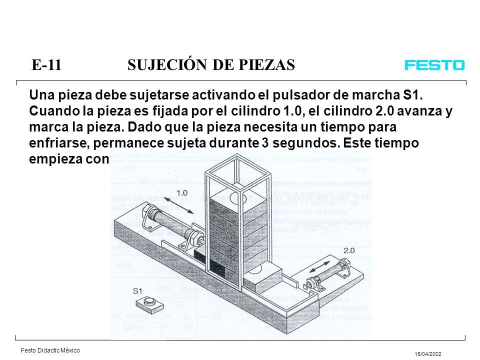 E-11 SUJECIÓN DE PIEZAS