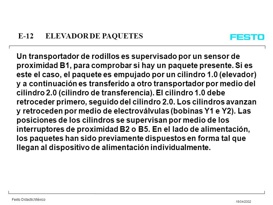 E-12 ELEVADOR DE PAQUETES