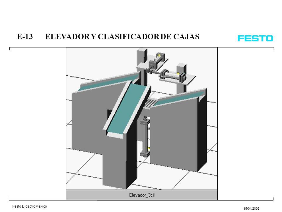 E-13 ELEVADOR Y CLASIFICADOR DE CAJAS