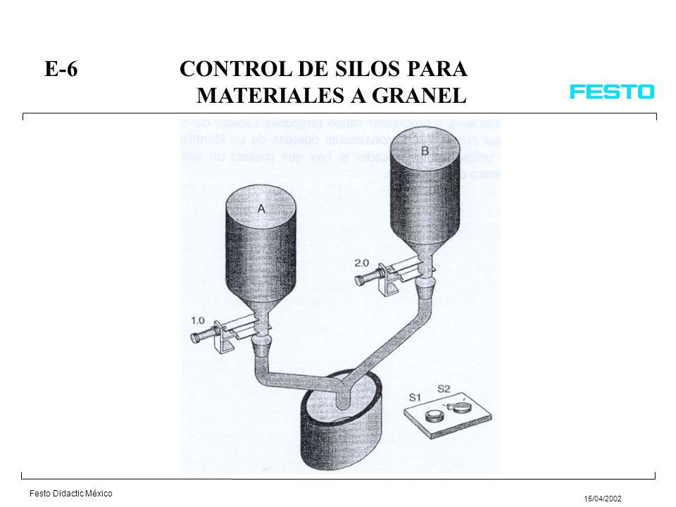 E-6 CONTROL DE SILOS PARA MATERIALES A GRANEL