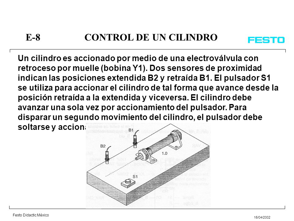 E-8 CONTROL DE UN CILINDRO
