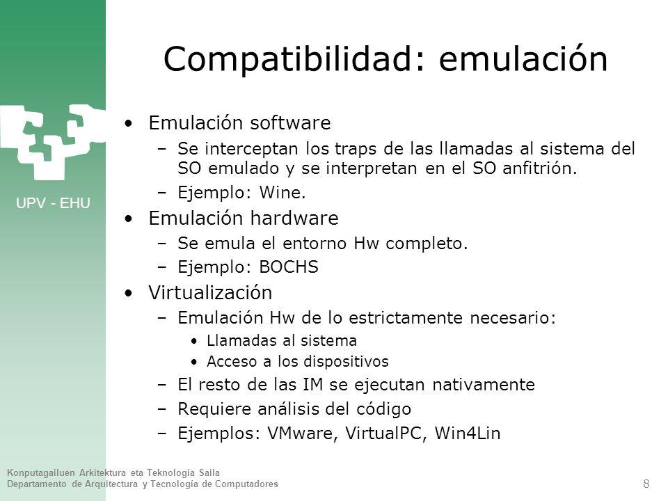 Compatibilidad: emulación