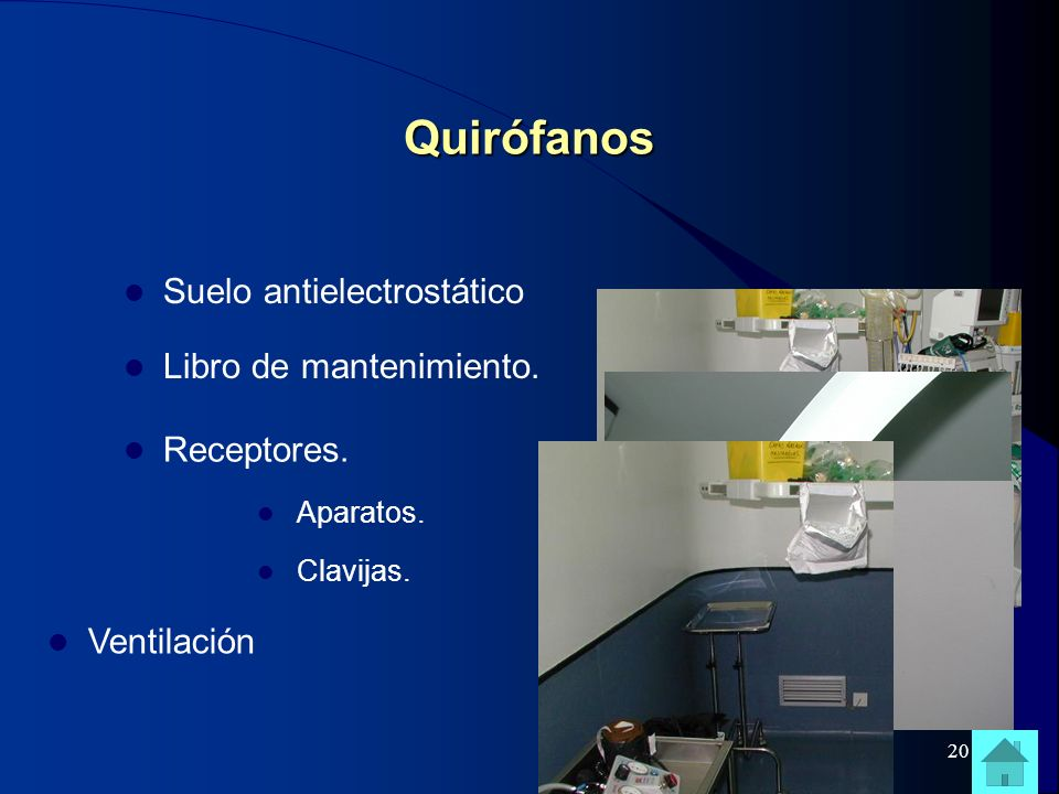 Quirófanos Suelo antielectrostático Libro de mantenimiento.