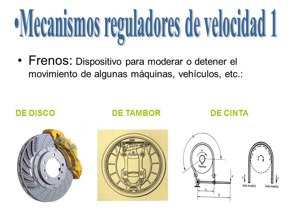 Mecanismos reguladores de velocidad 1