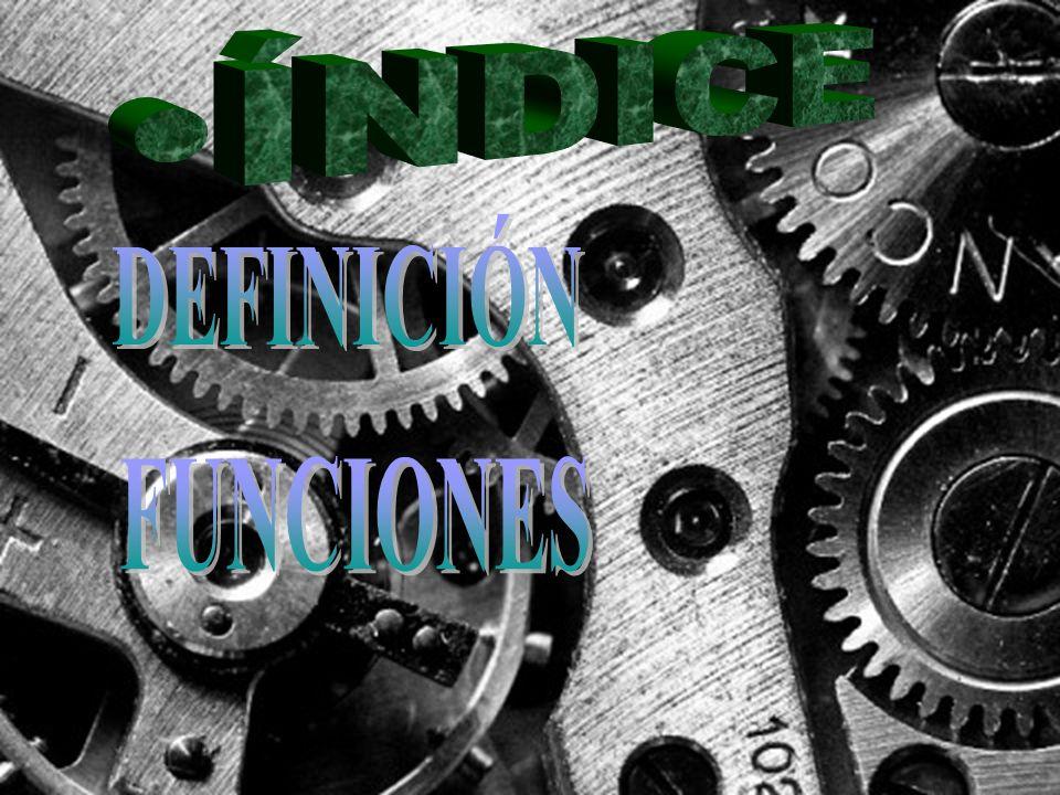 ÍNDICE DEFINICIÓN FUNCIONES
