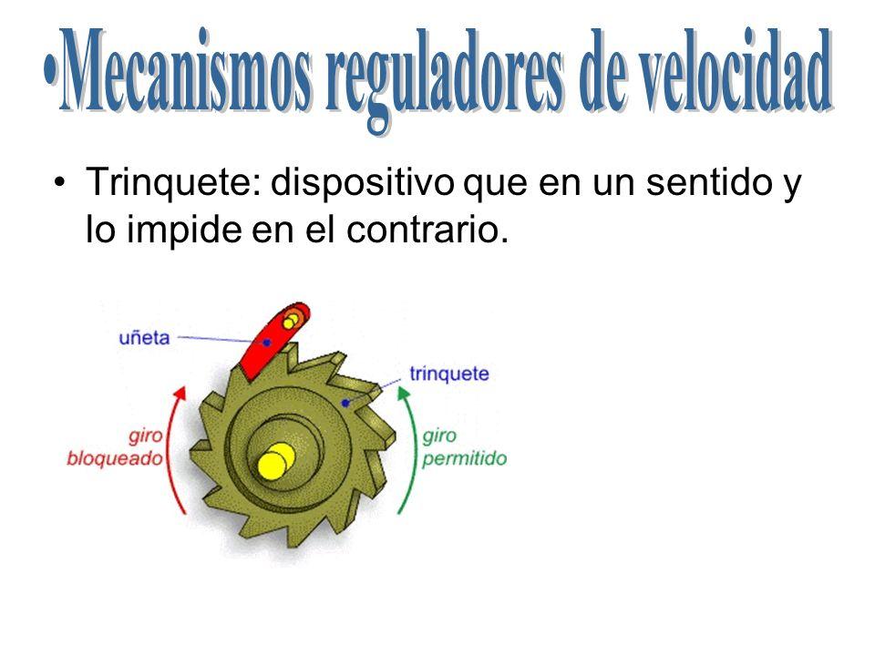 Mecanismos reguladores de velocidad