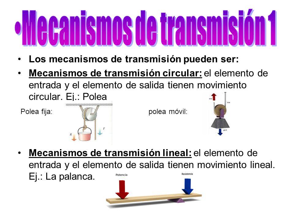 Mecanismos de transmisión 1