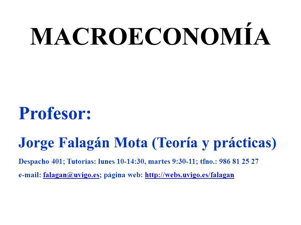 MACROECONOMÍA Profesor: Jorge Falagán Mota (Teoría y prácticas)