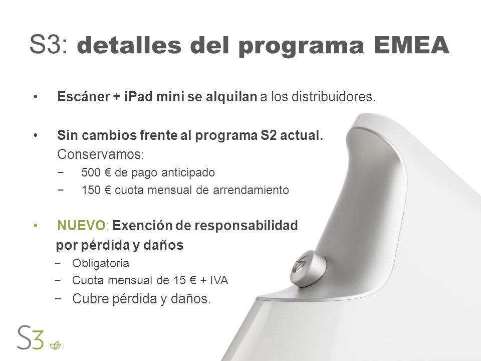 S3: detalles del programa EMEA