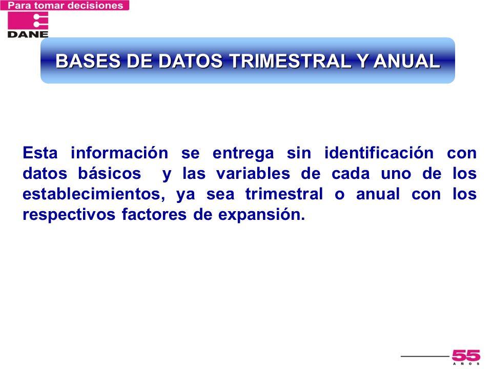 BASES DE DATOS TRIMESTRAL Y ANUAL