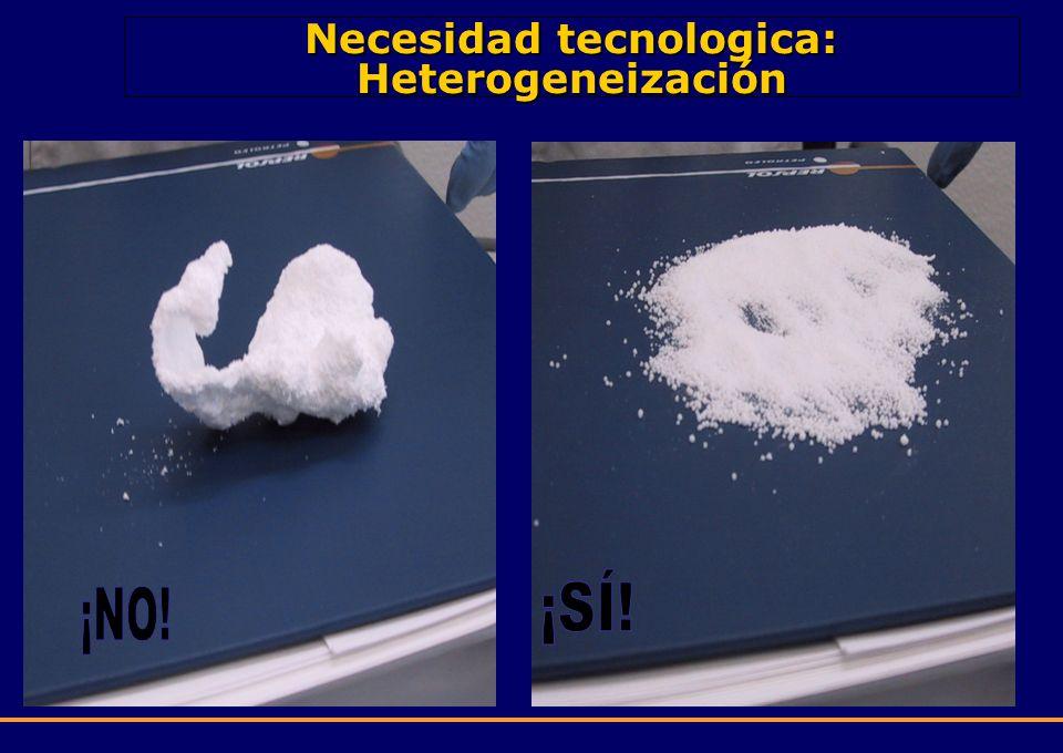 Necesidad tecnologica: Heterogeneización