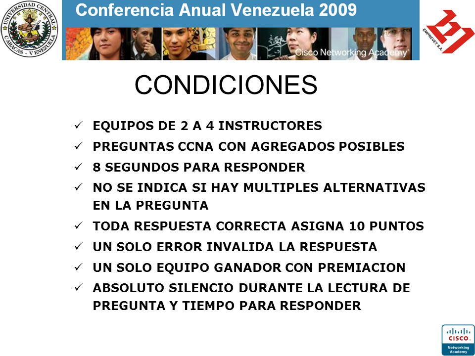 CONDICIONES EQUIPOS DE 2 A 4 INSTRUCTORES
