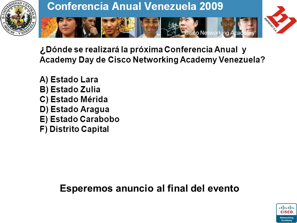 Esperemos anuncio al final del evento
