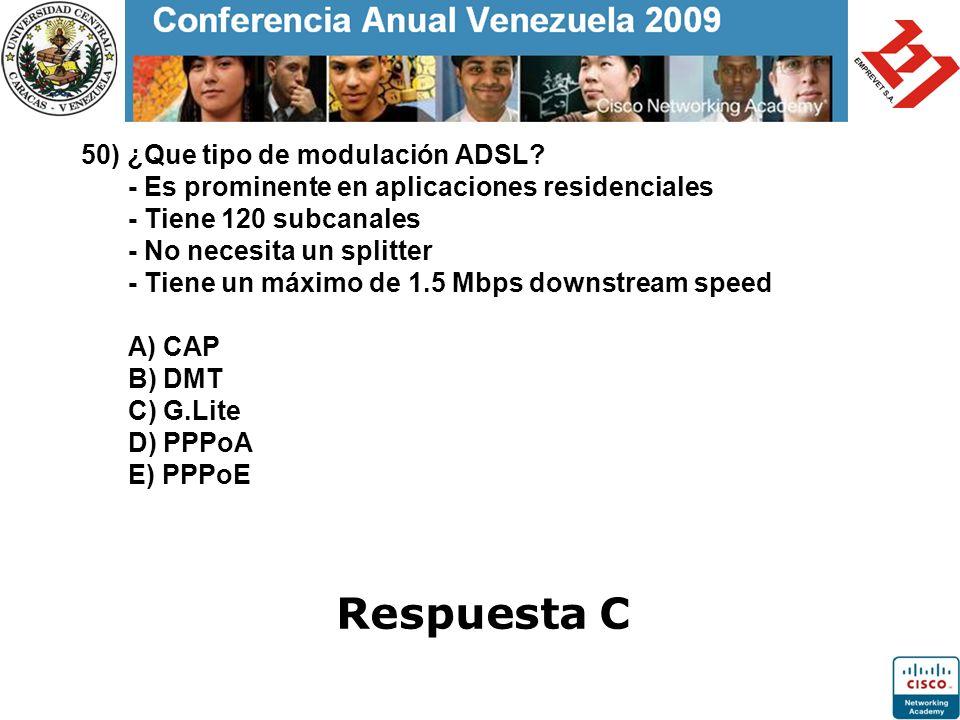 50) ¿Que tipo de modulación ADSL