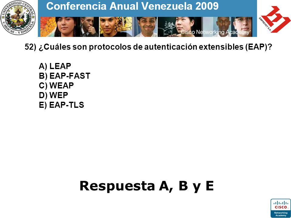 52) ¿Cuáles son protocolos de autenticación extensibles (EAP)
