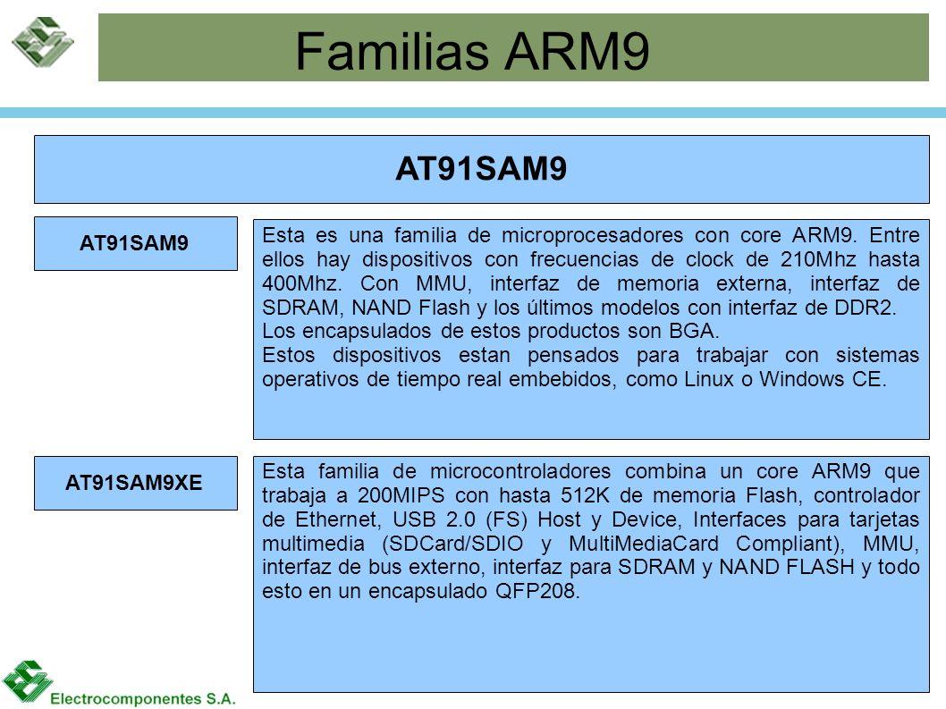 Familias ARM9 AT91SAM9 AT91SAM9