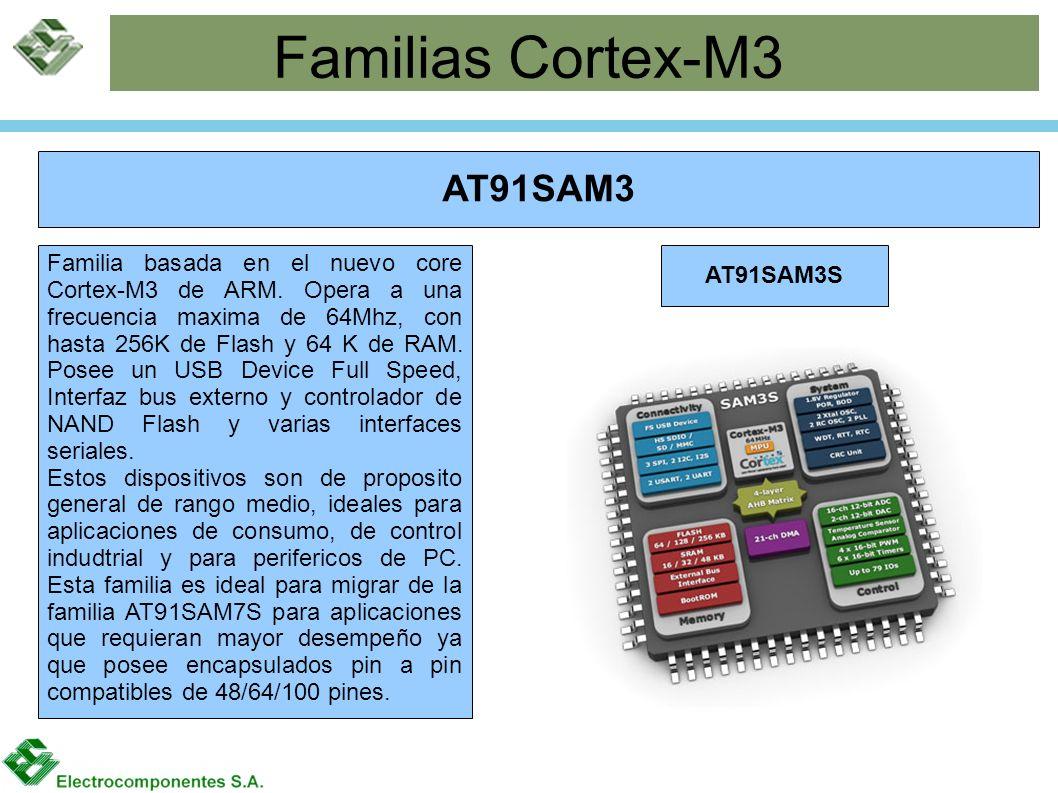 Familias Cortex-M3 AT91SAM3