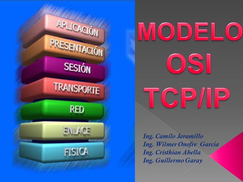 OSI TCP/IP MODELO Ing. Camilo Jaramillo Ing. Wilmer Onofre García